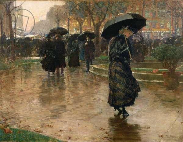 Rain Storm, Union Square, 1890 (oil on canvas)