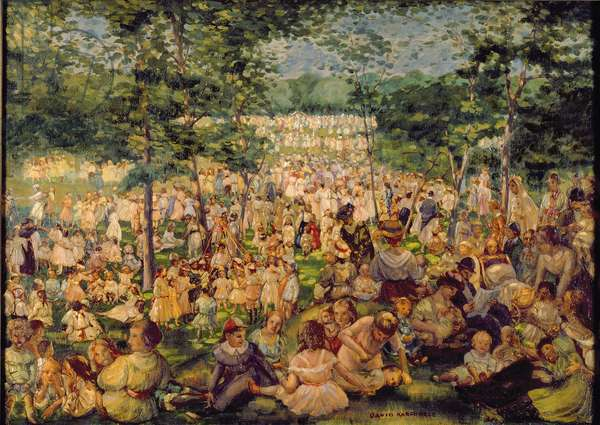 The May Party, 1909 (oil on canvas)