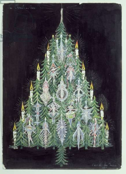 The Christmas Tree (w/c and gouache)