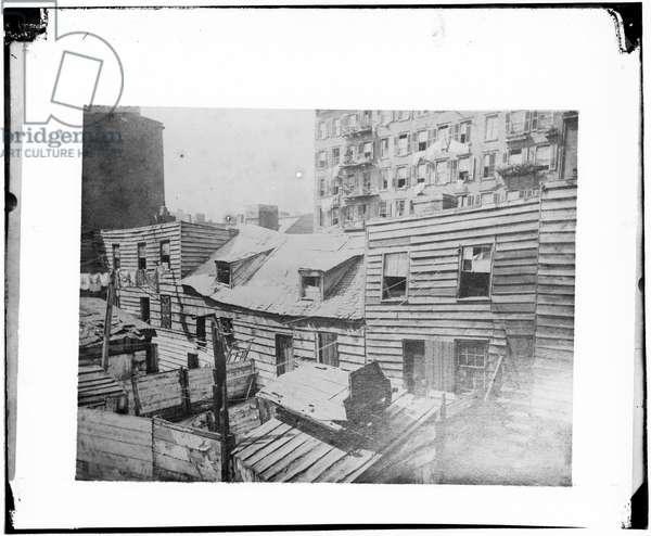 Dens of Death, 1872 (b/w photo)