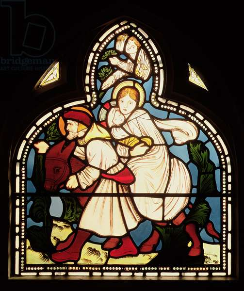 The Flight into Egypt, 1862 (stained glass)