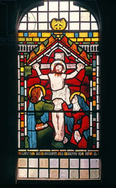 The Crucifixion, 1861 (stained glass)