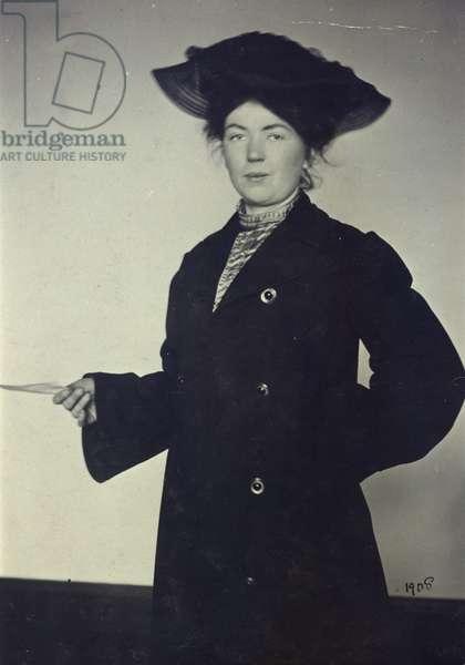 Christabel Pankhurst (1880-1958) 1908 (b/w photo)