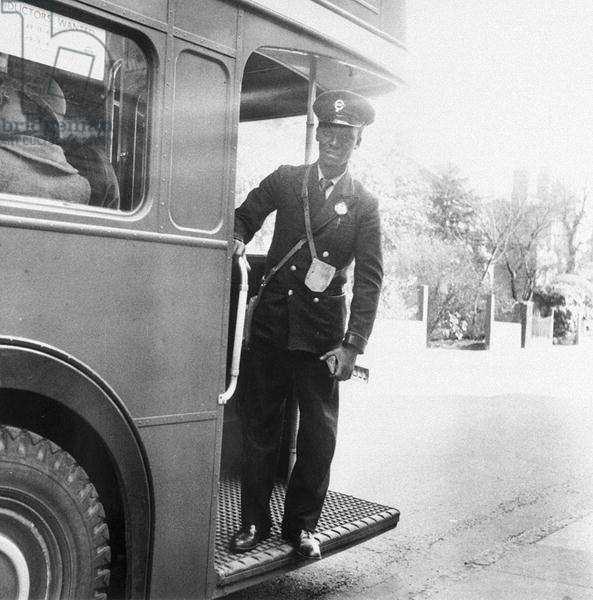 Bus Conductor (b/w photo)