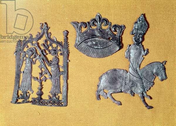 Three Pilgrim Badges (tin-lead alloy)