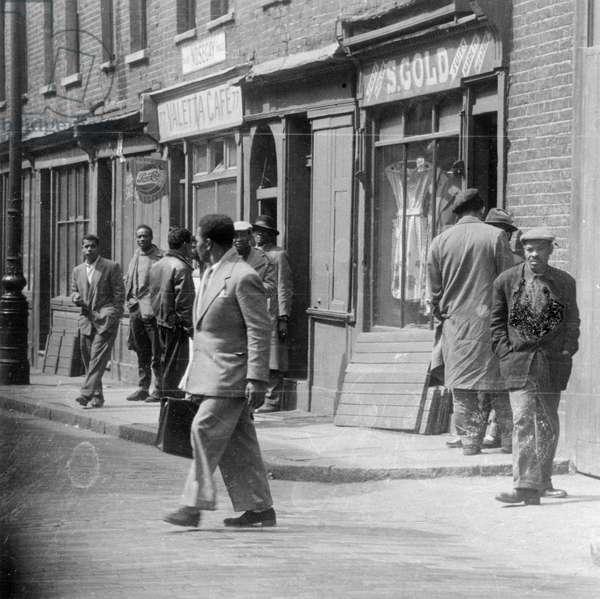 Notting Hill, London, 1940s (b/w photo)