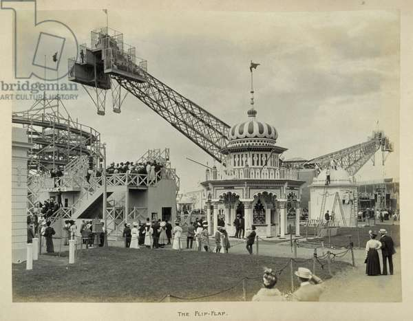 The Flip-Flap at the Franco-British Exhibition at White City, London, 1908 (b/w photo)