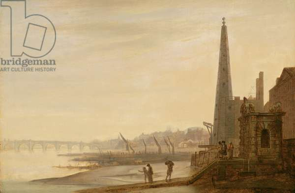 View of Westminster and Westminster Bridge from York Stairs, c.1780-85
