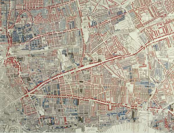 Descriptive map of London Poverty, 1889 (hand-coloured litho)