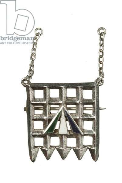 The Holloway Brooch, 1909 (silver & enamel)