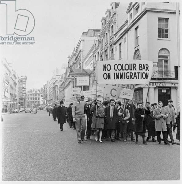 March Against the Commonwealth Immigrants Bill, 1962 (b/w photo)