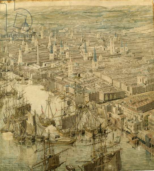 The Rhinebeck Panorama of London, Panel 3, c.1810 (w/c, pen & ink on paper) (see also 128494-5 & 128497)