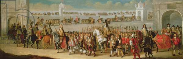 Coronation Procession of Charles II to Westminster from the Tower of London, 22nd April 1661, 1662 (oil on canvas)