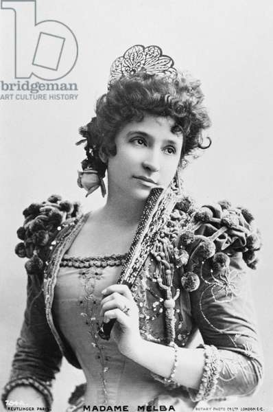 Dame Nellie Melba as Rosina in 'The Barber of Seville' (b/w photo)