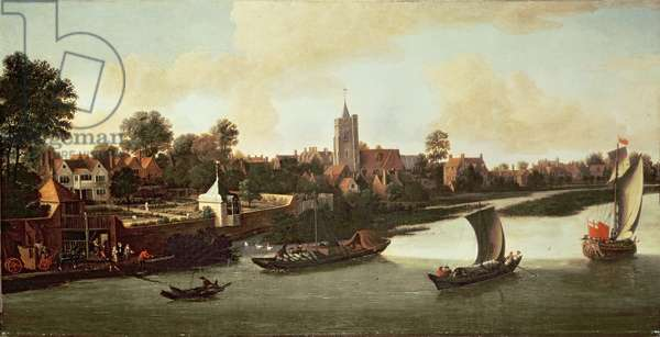 Chiswick from the River, c.1676-80 (oil on canvas)