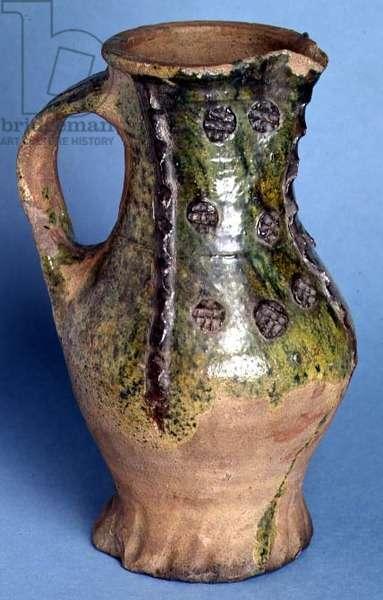 Grid-stamped jug, Surrey (ceramic)