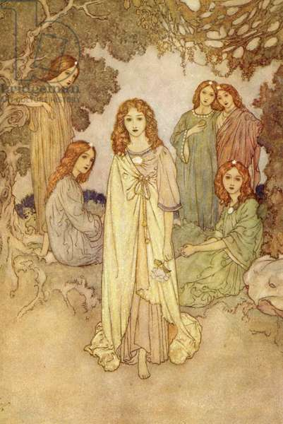 The Nymphs, from the 'Garden of Paradise', (illustration)