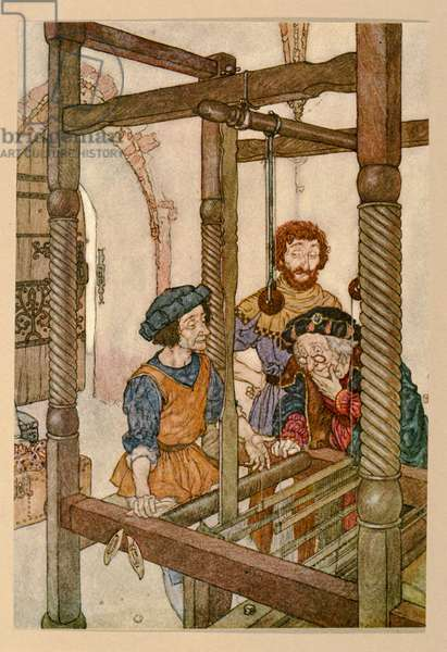 The Weavers, from the 'Emperor's New Clothes', (illustration)