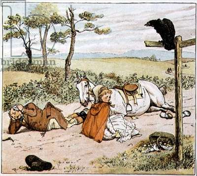 The Farmer on the ground, from 'A Farmer went trotting upon his grey mare'
