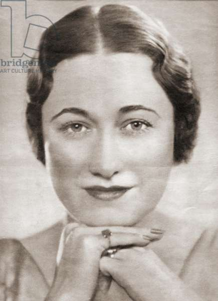 Wallis Simpson, later the Duchess of Windsor, born Bessie Wallis Warfield, 1896-1986