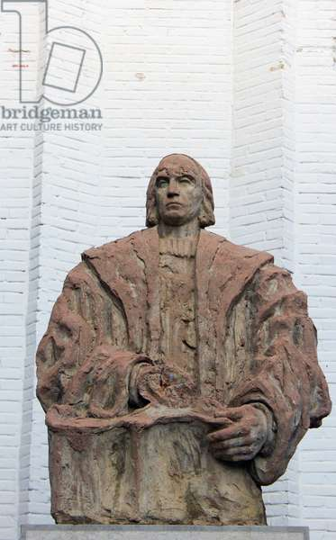 Statue of Christopher Columbus, Santa Fe, Granada, Andalucia, Spain (photo)