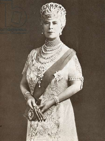 Mary of Teck, Victoria Mary Augusta Louise Olga Pauline Claudine Agnes, 1867 – 1953.  Queen consort of the United Kingdom as the wife of King George V.  From The Story of 25 Eventful Years in Pictures, published 1935.