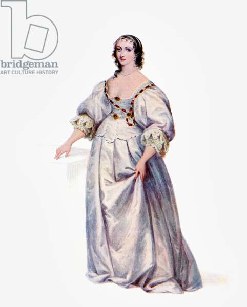Henrietta Maria of France, 1609 to1669.  Queen consort of England, Scotland and Ireland as the wife of King Charles I.  From the book The Connoisseur Illustrated published 1903.