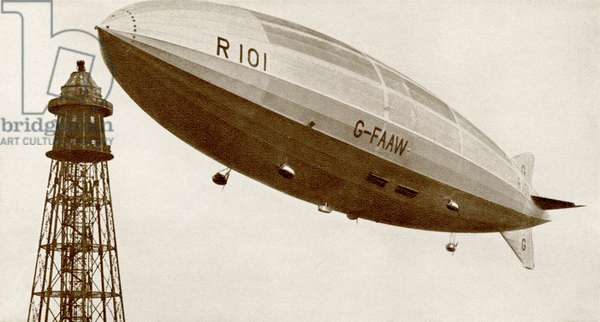 The launching of the rigid airship R101 in 1929.  From The Story of 25 Eventful Years in Pictures published 1935