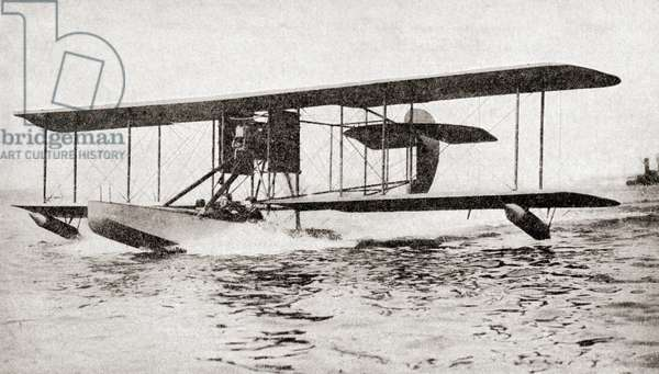A British Hydroplane during World War One, from The History of the Great War, pub.c. 1919