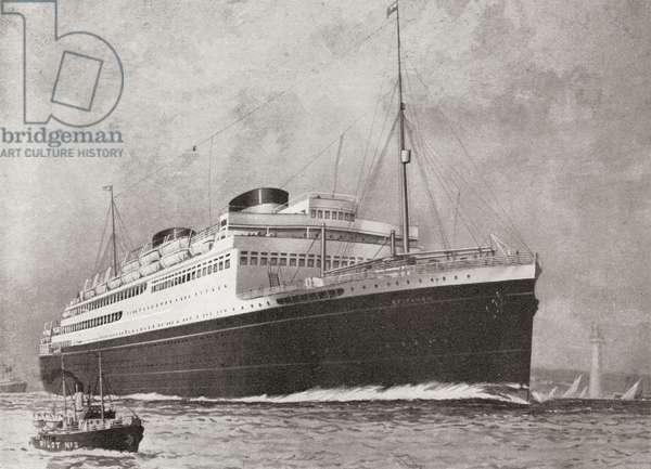 M.V. Britannic, ocean liner of the White Star Line (litho)