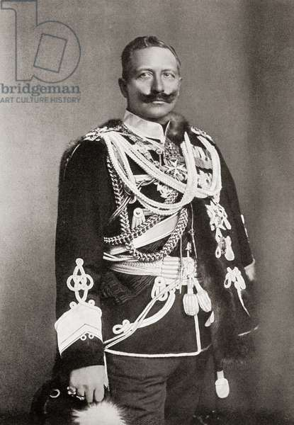 Wilhelm II, 1859 to 1941. Last German Emperor and King of Prussia.   From Bibby's Annual published 1910.