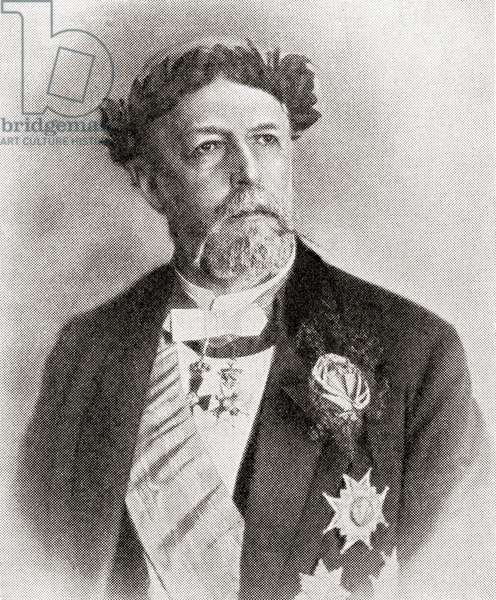 Oscar II, King of Sweden and Norway. from the magazine 'The World and His Wife', published 1907 (litho)
