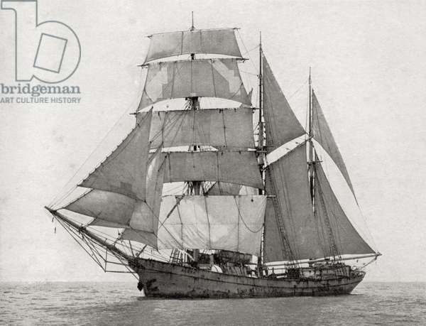 The British Barquentine Alaska, trading to the Ellis and Gilbert Islands (litho)