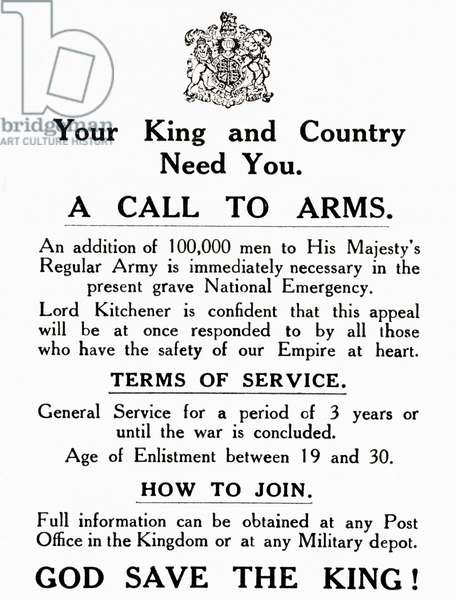 A Call to Arms during World War One, from The History of the Great War, pub.c. 1919