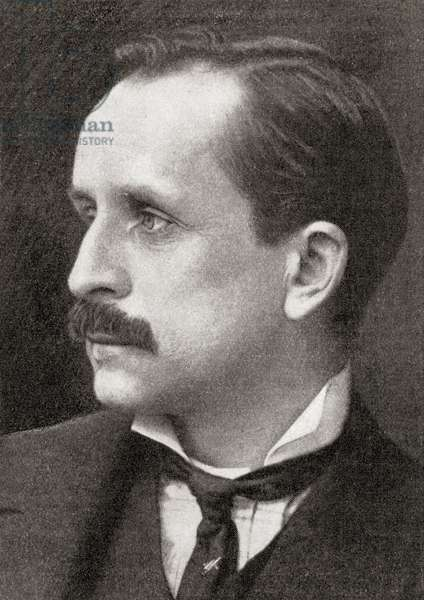 Sir James Matthew Barrie, from the magazine 'The World and His Wife', published 1907 (litho)