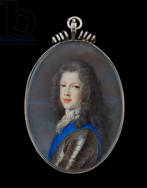 Portrait miniature of Prince James Francis Edward Stuart, the Old Pretender (gouache on vellum)
