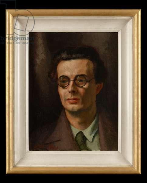 Portrait of Aldous Huxley, 1931 (oil on canvas)