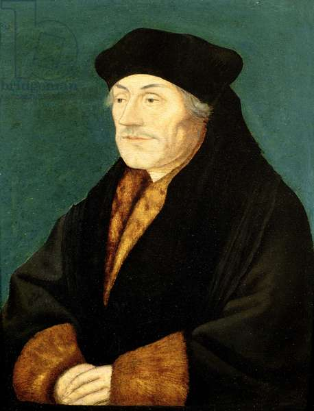Portrait of Desiderius Erasmus (c.1467-1536) (oil on panel)