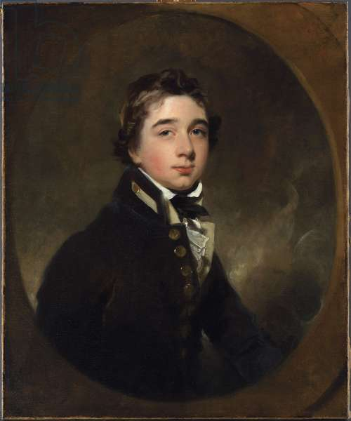 Portrait of Midshipman Michael Daintry, c.1813 (oil on canvas)