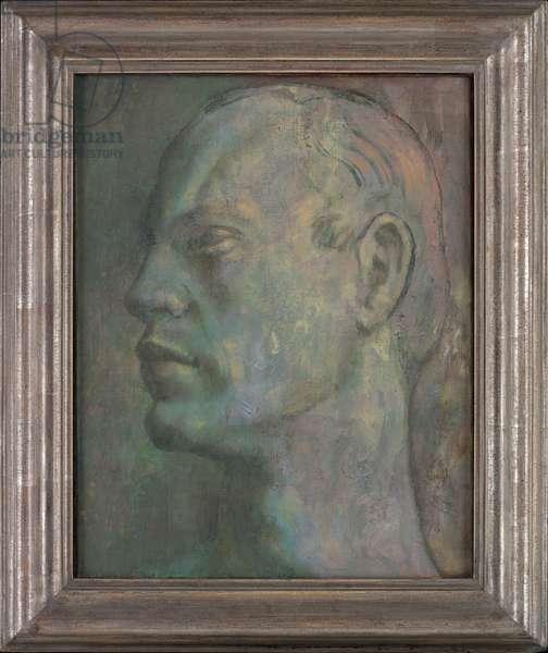 Portrait of Kinmont Hiotsma (oil on canvas)