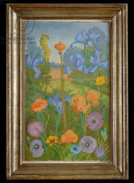 Flowers in a Garden, 1965 (oil on canvas)