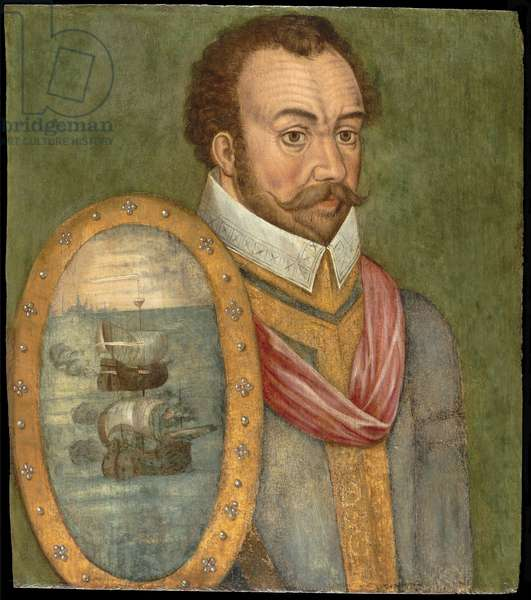 Portrait of Sir Francis Drake, c.1583 (oil on panel)