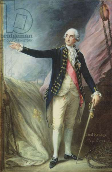 George Brydges Rodney (1719-92) Admiral of the White, 1782 (oil on canvas)