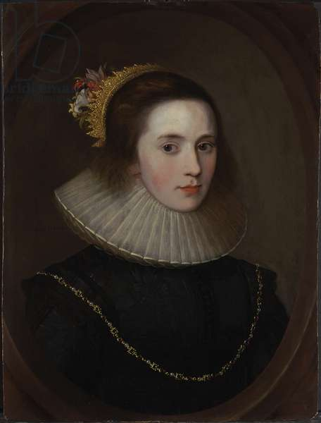 Portrait of Gertrude Sadleir, Lady Ashton of Forfar, c.1615-20 (oil on panel)