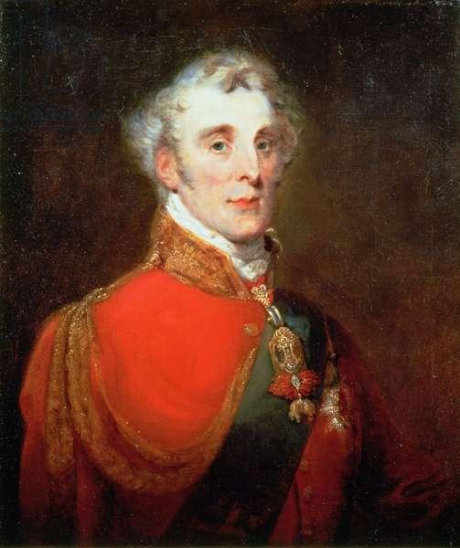 Portrait of Arthur Wellesley, 1st Duke of Wellington (1769-1852) wearing the Order of the Golden Fleece and of the Garter, c.1840