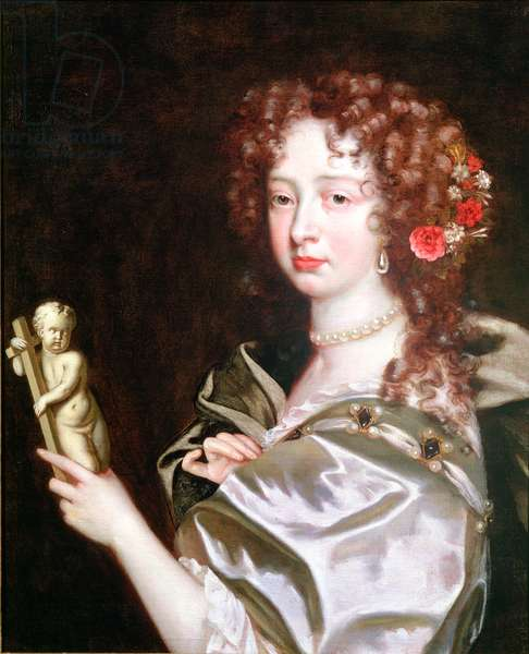 Portrait of a Lady of the Court of Catherine of Braganza, c.1670 (oil on canvas)