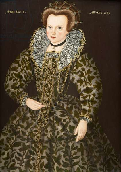 Portrait of a Young Girl, aged Three, 1595 (oil on panel)