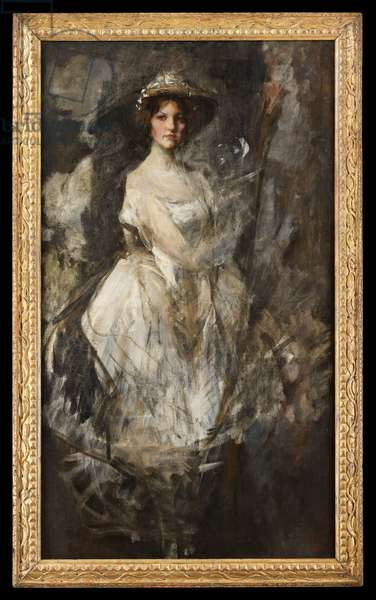 Kitty Shannon (1887-1974), c.1905 (oil on canvas)
