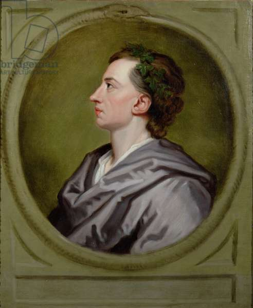 Portrait of Alexander Pope (oil on canvas)