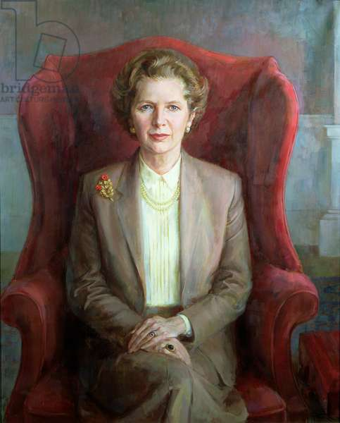 Portrait of Margaret Thatcher as Prime Minister, 1983 (oil on canvas)